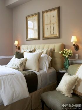 卧室床头背景墙装饰画图片