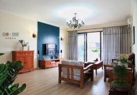 田园风格简装修两室两厅效果图