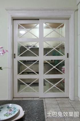 白色厨房欧式白色厨房门推拉门效果图