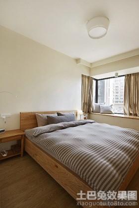 日式装修卧室飘窗效果图