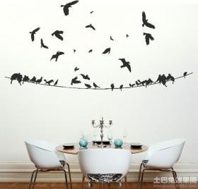 餐厅背景墙立体墙贴效果图