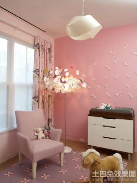 温馨儿童房立体墙贴效果图
