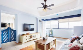 地中海风格电视墙颜色效果图