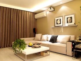 现代风格40平米小户型客厅装修效果图