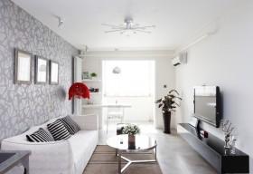 简约风格复式婚房客厅装修效果图