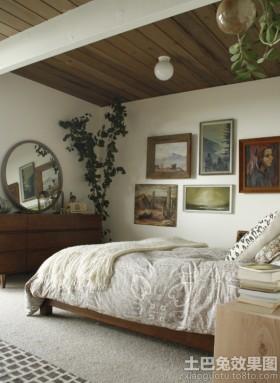 复古风格卧室装修效果图