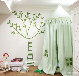 白墙儿童卧室墙贴效果图
