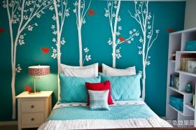卧室床头墙贴效果图欣赏