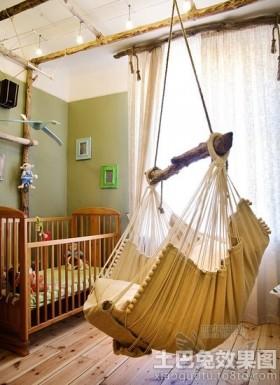 婴儿房秋千吊椅图片