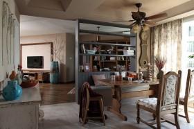 美式风格餐厅餐桌餐椅效果图