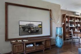 美式风格电视柜效果图