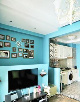 地中海风格照片电视背景墙效果图