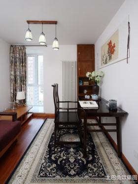 中式风格二居书房布置图片