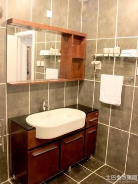 中式风格卫生间实木浴室柜图片
