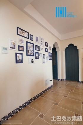 地中海风格过道装修照片墙效果图