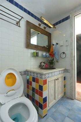 美式风格卫生间马赛克浴室柜装修效果图