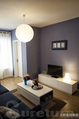 简约40平米小户型装修客厅电视背景墙效果图