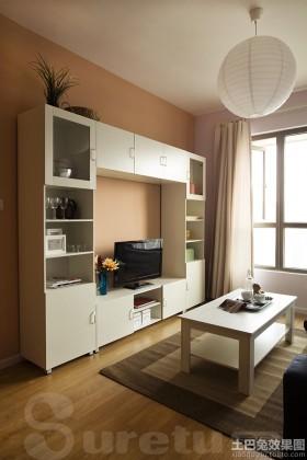 简约装修风格客厅电视柜装修效果图