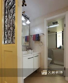 地中海风格卫生间浴室柜效果图