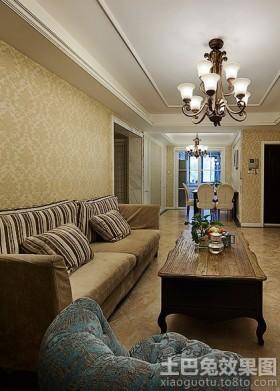美式风格二居客厅沙发茶几图片大全