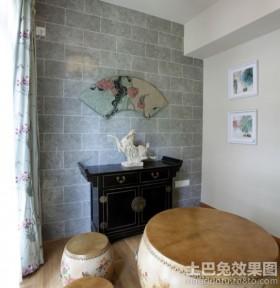 中式餐厅餐边柜装饰效果图