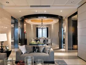 现代港式100平米两室两厅客厅装修效果图