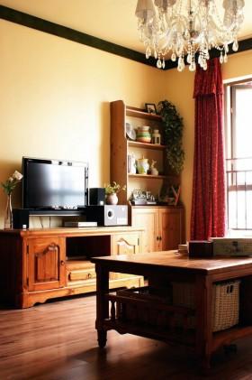 美式风格客厅电视柜效果图