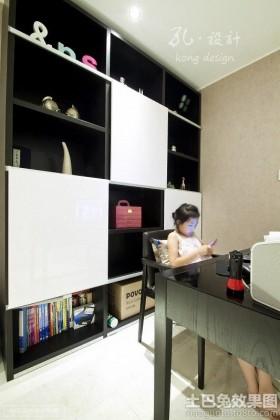 现代风格整体书柜效果图