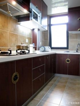中式风格橱柜中式家居厨房装修效果图片
