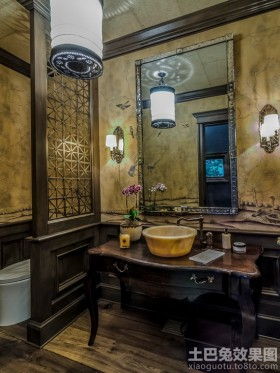 古典风格洗手间隔断效果图