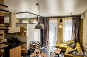 loft小户型整体客厅装修效果图欣赏