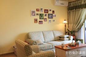 田园风格装修客厅照片墙效果图