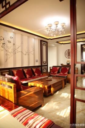 中式风格二居客厅效果图