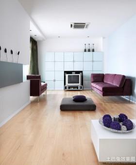 客厅沙发背景墙客厅浅色木地板贴图图片