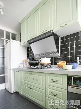 新中式二居厨房橱柜颜色效果图图片
