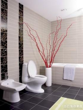 大户型卫生间瓷砖效果图