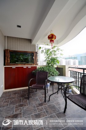 新中式风格阳台装修效果图大全图片
