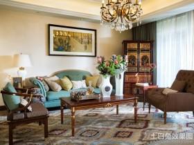 时尚古典混搭别墅客厅装修效果图
