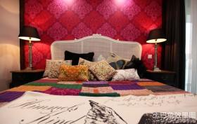 混搭风格卧室床头背景墙效果图