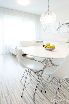 白色小餐厅装修效果图大全