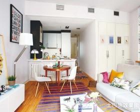 混搭50平米小户型室内装潢图片