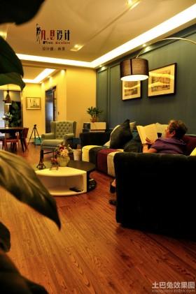 时尚混搭风格两室两厅装修效果图