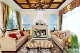 田园地中海混搭客厅装修效果图