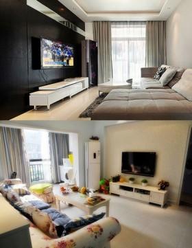 现代简约风格60平米小户型客厅装修效果图