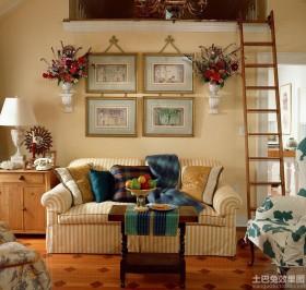 韩式风格客厅沙发背景墙效果图