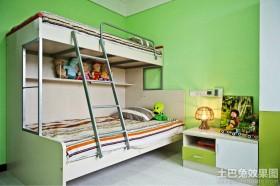 绿色家装儿童房上下铺效果图