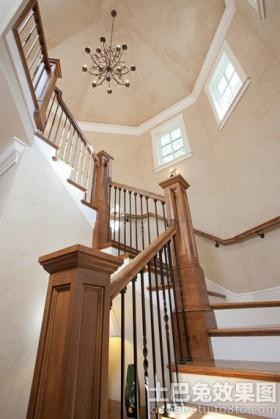 美式风格别墅美式别墅楼梯扶手图片大全