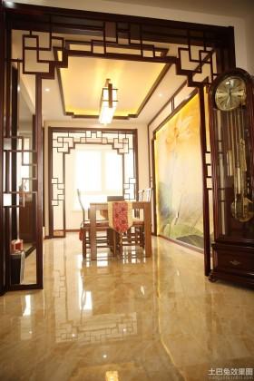 中式风格二居餐厅吊顶装修效果图