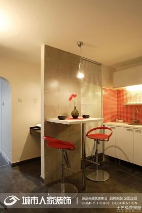 现代简约30平米小户型家庭吧台效果图