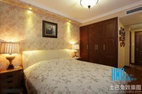 温馨美式卧室壁纸装修效果图